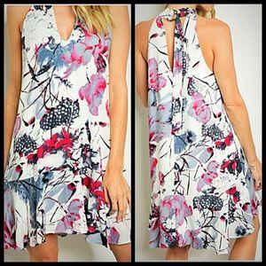 Dresses & Skirts - LOWEST! Floral Choker Dress 1S/1M/