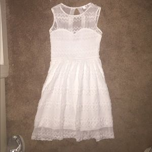 Gabriella Rocha White Crochet Dress