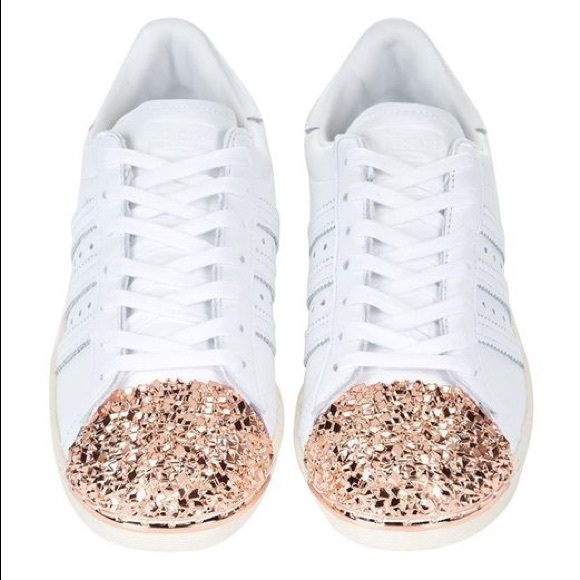 32fccfc909 Adidas Superstar With Rose Gold Toe Cap