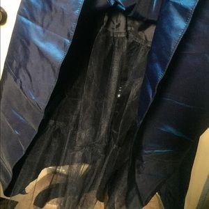Gunne Sax Dresses - GunneSax vintage9 midi. Taffeta w/lace trim Fits6?