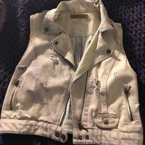 wall flower Jackets & Blazers - One of a kind denim vest