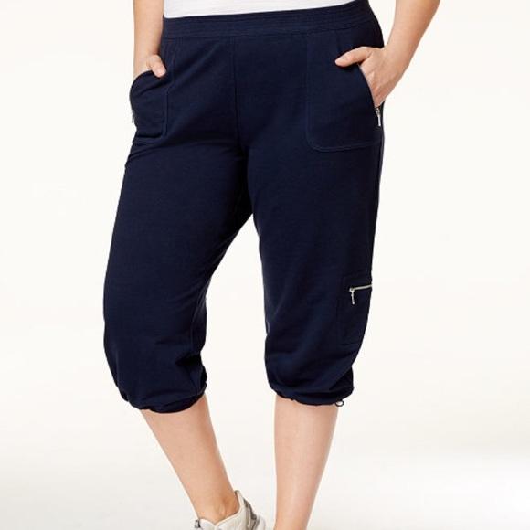Style&co plus size bungee hem Capri pants NWT