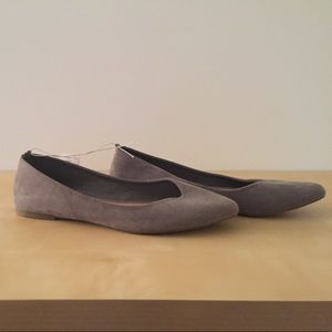 Old Navy grey suede flats