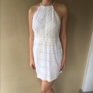 Loft eyelet white dress- graduation dress