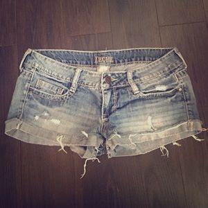 Decree Pants - Distressed Jean Shorts Size 7 Decree