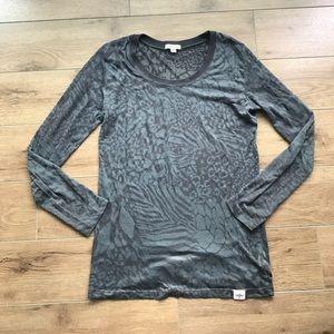 Jenny Bird Tops - Jenny B. Long sleeves see through Floral tee shirt