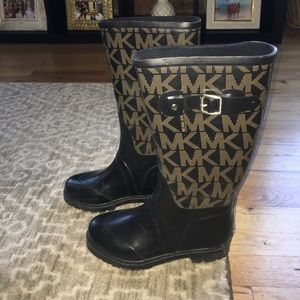 KORS Michael Kors Shoes - Black monogram rain boots