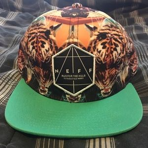Neff Other - NWOT Exclusive NEFF tiger snapback 🐯