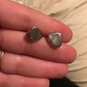 BIRKS Jewelry - BIRKS sterling silver pebble earrings