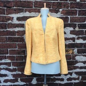 Akris Punto Jackets & Blazers - Akris Punto 8 Yellow Raw Silk Tweed Blazer Jacket