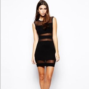 SALE! ASOS PETITE Bodycon Dress w Sheer Insert