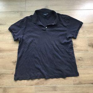 Lands' end short sleeves polo shirt tee top medium