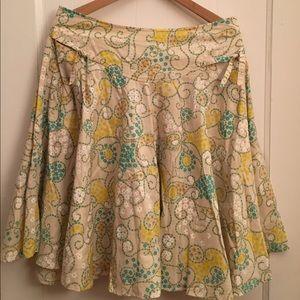 Swirly daisy skirt Anthroplogie