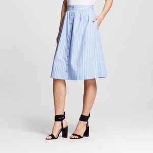 Who What Wear Dresses & Skirts - NWT Who What Wear stripped high waist skirt