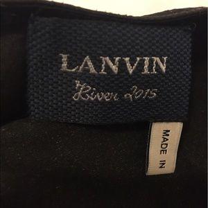 Lanvin Tops - LANVIN leather drape top