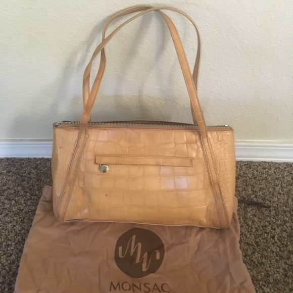 92 off monsac handbags make an offer designer monsac purse from valuevintage 39 s closet on. Black Bedroom Furniture Sets. Home Design Ideas