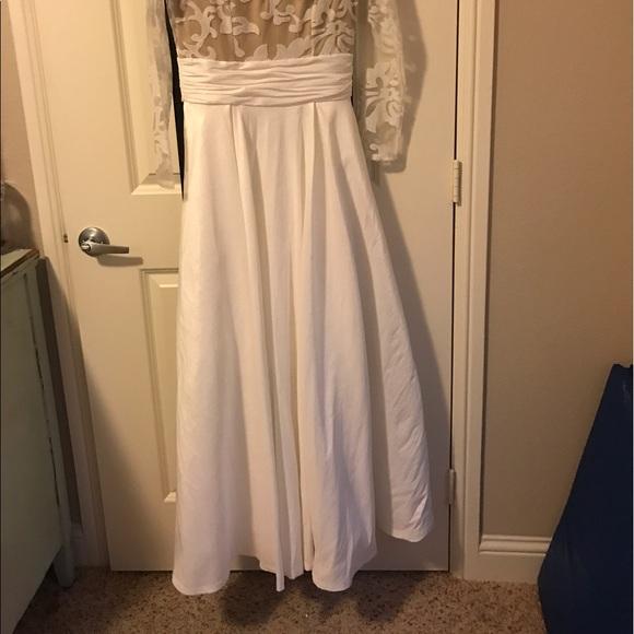 13 off dresses skirts prom wedding dress worn once for Pre worn wedding dresses
