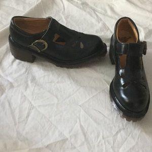 Dr. Martens Shoes - Dr.Martens block heel black leather Mary Janes