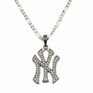 Other - ⚾️New York Yankees Silver Rhinestone Necklace⚾️