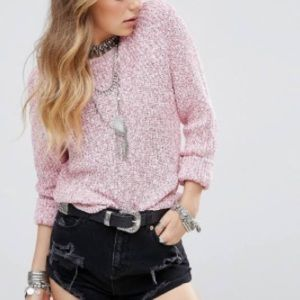 Free People Woman Pink Sweater