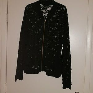 cac6e0769 CITY CHIC PLUS SEXY LACE BOMBER JACKET SIZE 22 NWT