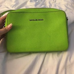 Michael Kors Lime Green Crossbody bag 💚