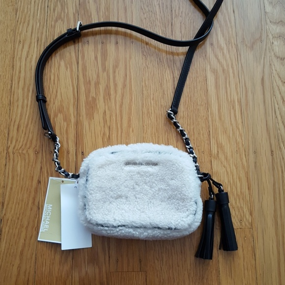 18d63ffb82cd Michael Kors Bags | Jet Set Travel Shearling Crossbodybag | Poshmark