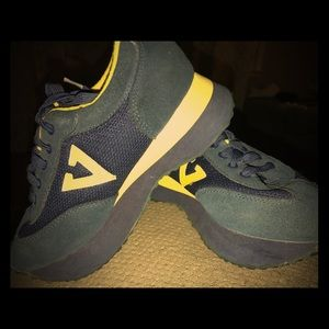 Volatile Shoes - Super Cute Volatile Navy And Yellow Sneakers!