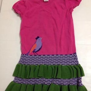 Gymboree pink bird ruffle dress