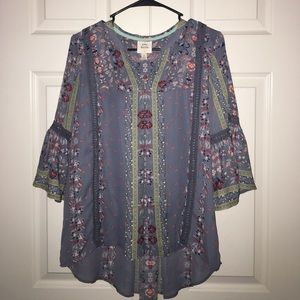 Knox Rose 3/4 sleeve boho top