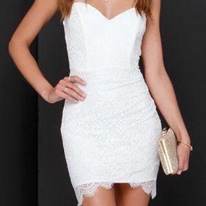 Lulu's Dresses - Lace White Dress
