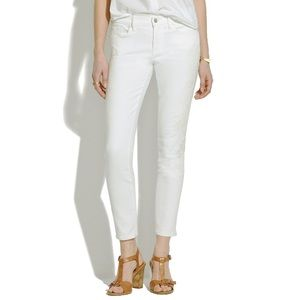Madewell Denim - Madewell white embroidered jeans