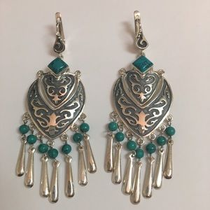 Earrings, pendant and ring set 925
