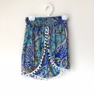 Blue Life Pants - Boho Bohemian Summer Flowy Pattern shorts