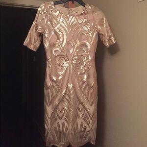 Gianni Bini Dresses & Skirts - Sequin and mesh pencil dress