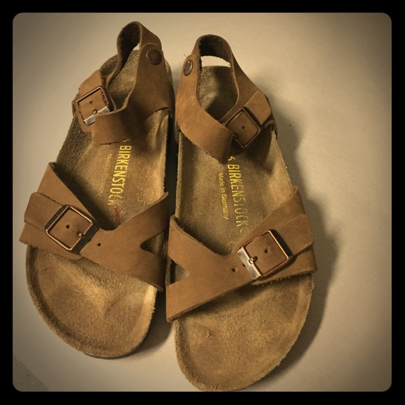 Sandals Poshmark Shoesbrasil Euc Birkenstock Leather Sz36 Nw8mn0 In 5Aj34LR