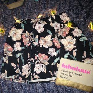 Decree Dresses & Skirts - Floral Scuba Skater Skirt