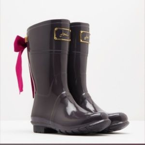 Joules Shoes - New Joules Rain Boots w Ribbons NIB