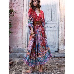 Spell Lotus Kimono Gown