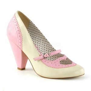 Shoes - Heart Pin Up High Heel Shoes 1950s Vintage Style