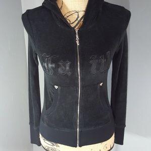 Faith Connexion Jackets & Blazers - Faith Connexion Velour Wing Hooded Jacket