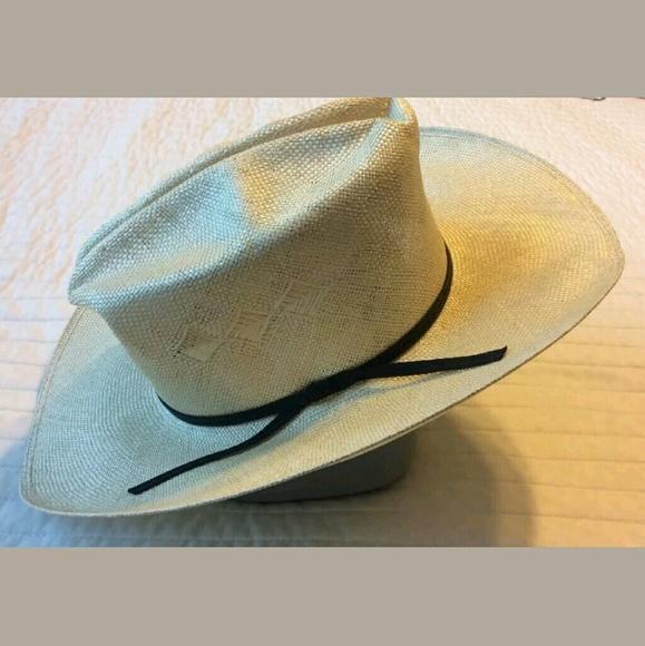 82454f190112a Miller Bros Western Hat Cowboy 6 7 8 Beige straw. M 5949e2794e95a3aa21055805