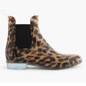 J. crew Chelsea Leopard or Cheetah Rain boots