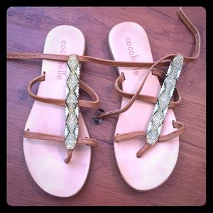 cocobelle Shoes - Beaded Sandals -size 7