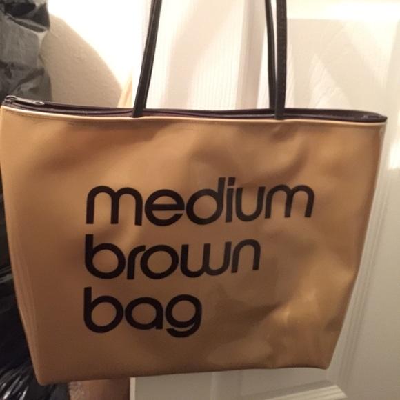 1a1e1ba5d6 Bloomingdale's Bags | Bloomingdales Zip Top Medium Brown Bag | Poshmark