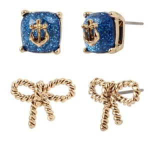 New Betsey Johnson Anchors Away & Rope Bow Studs!