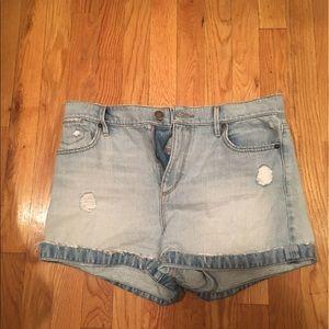 LOFT Pants - Loft high waisted denim shorts