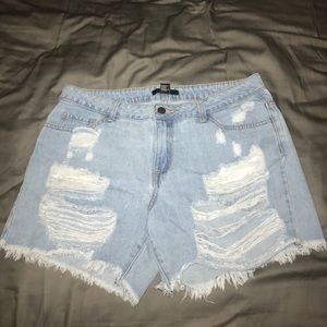 Distressed Denim Shorts from Forever21