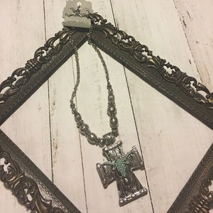 Necklace and earring set cowgirl miss me style