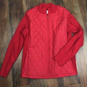 croft & barrow Jackets & Blazers - Croft & Barrow Quilted Sweater Jacket